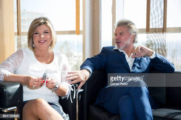 Terelu Campos and Bigote Arrocet attend the appointment of Dani Rovira And Maria Teresa Campos Favorite And Adopted Sons of Malaga on September 26...