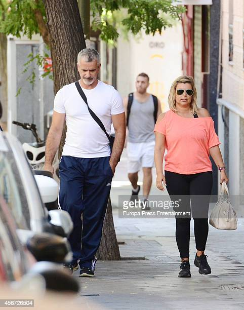Terelu Campos and Jose Valenciano are seen on October 3 2014 in Madrid Spain