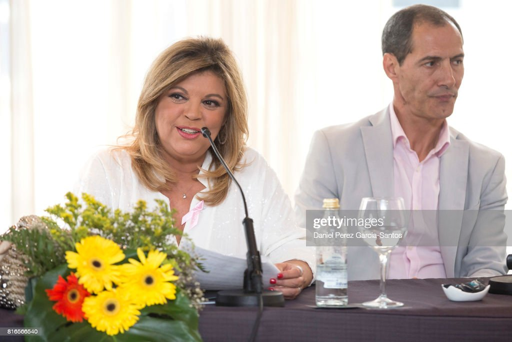 Terelu Campos and Manuel Bandera attend the presentation of the new book 'Frente Al Espejo' on July 17, 2017 in Malaga, Spain.