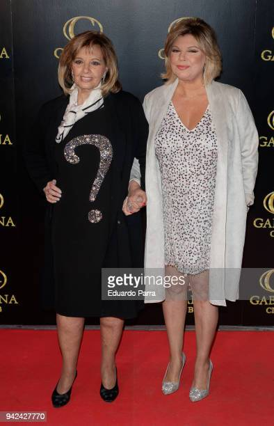 Terelu Campos and Maria Teresa Campos attend the 'Alejandra Rubio's birthday photocall' at Gabana disco on April 5 2018 in Madrid Spain