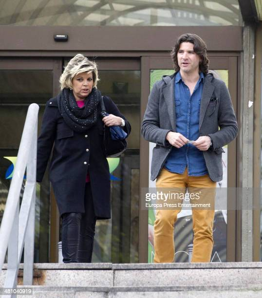 Terelu Campos and Tono Sanchis are seen on March 27 2014 in Madrid Spain