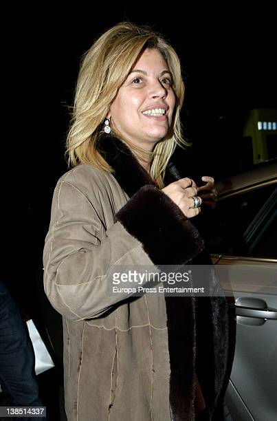 Terelu Campos arrives at hospital to go under surgery for breast cancer at Jimenez Diaz Foundation on January 17 2012 in Madrid Spain