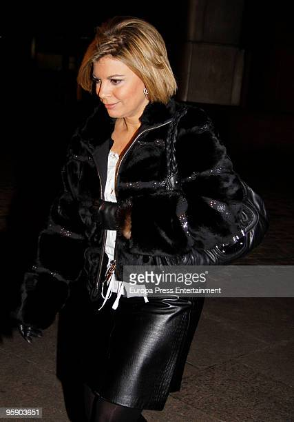 Terelu Campos attends the funeral service for Antonio del Rosal y Granda Marquis of Sales on January 20 2010 in Madrid Spain