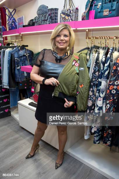 Terelu Campos attends the Lola Casademunt boutique opening on October 20 2017 in Malaga Spain