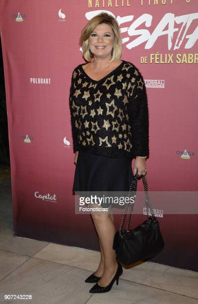 Terelu Campos attends the premiere of 'Desatadas' at the Capitol theatre on January 19 2018 in Madrid Spain