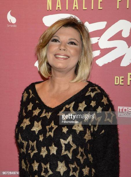 Terelu Campos attends the premiere of 'Desatadas' at the Capitol theatre on January 19 2018 in Madrid