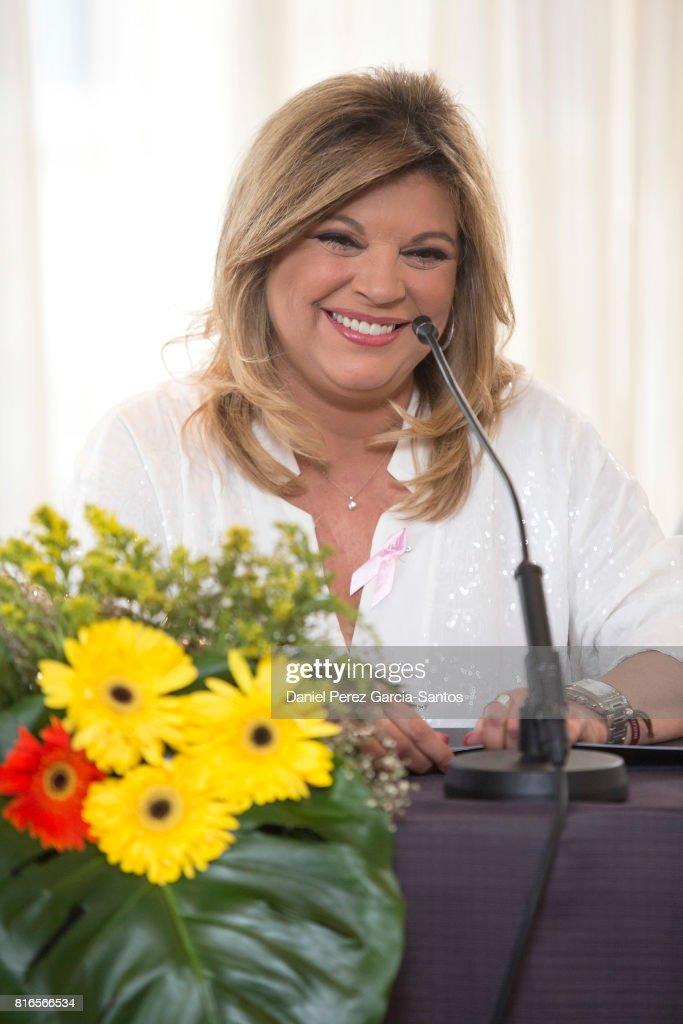 Terelu Campos attends the presentation of her autobiography book 'Frente Al Espejo' at Hotel Malaga Palacio on July 17, 2017 in Malaga, Spain.