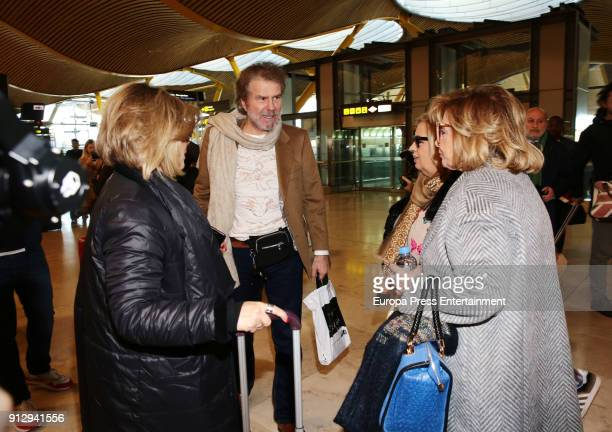 Terelu Campos Edmundo Arrocet Carmen Borrego and Teresa Campos are seen at the airport to travel to Buenos Aires where they are going to film a new...