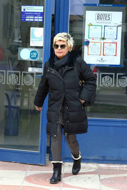 Terelu Campos is seen on February 06 2020 in Madrid Spain