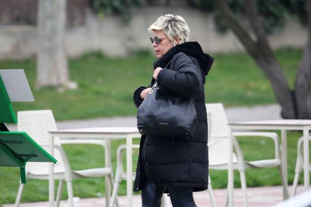 Terelu Campos is seen on February 11 2020 in Madrid Spain