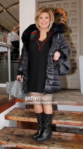 Terelu Campos is seen on January 6 2018 in Madrid Spain