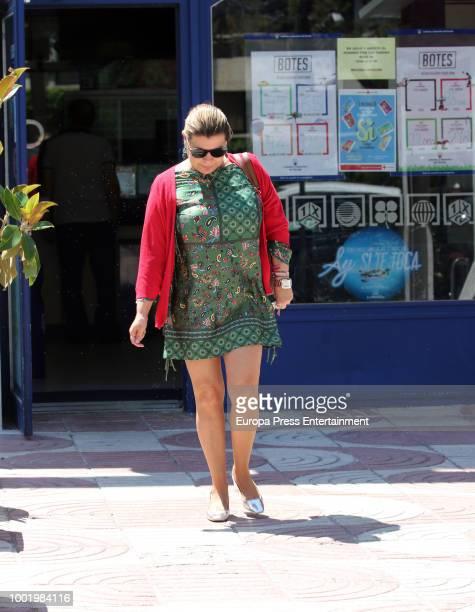 Terelu Campos is seen on July 9 2018 in Madrid Spain