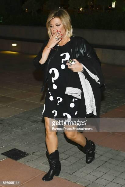 Terelu Campos is seen on October 25 2017 in Madrid Spain