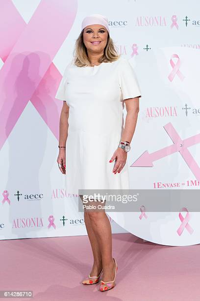 Terelu Campos presents the 'TuApoyoCuenta' campaign against breast cancer on October 13 2016 in Madrid Spain