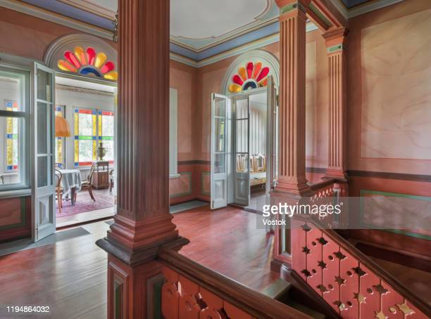terem palace interior in the old russian style - social history stock pictures, royalty-free photos & images