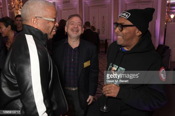Terence Blanchard Marc Shaiman and Spike Lee attend attends the 91st Academy Awards Champagne Tea Reception at Claridge's Hotel on February 8 2019 in...