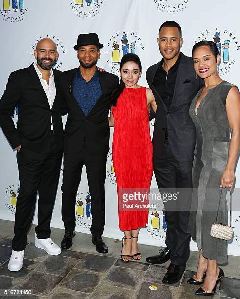 Terence Carter Jussie Smollett Aimee Garcia Trai Byers and Grace Gealey attend the I Have A Dream Foundation 3rd annual Dreamer Dinner at The...