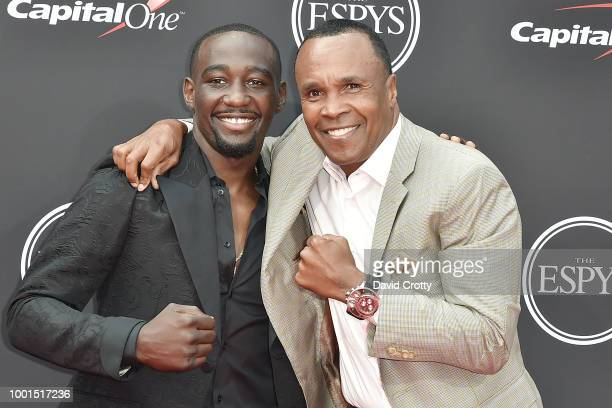 Terence Crawford and Sugar Ray Leonard attend The 2018 ESPYS at Microsoft Theater on July 18 2018 in Los Angeles California