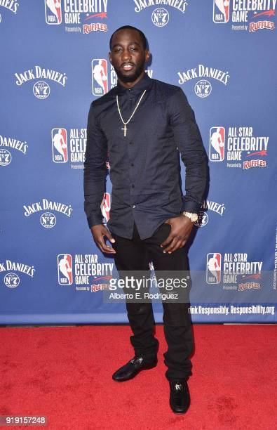 Terence Crawford attends the NBA AllStar Celebrity Game 2018 at Verizon Up Arena at LACC on February 16 2018 in Los Angeles California