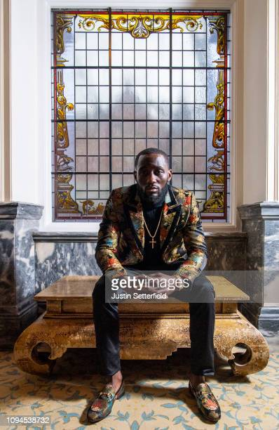 Terence Crawford poses for a portrait at The Landmark Hotel after a Terence Crawford and Amir Khan Press Conference on January 15 2019 in London...