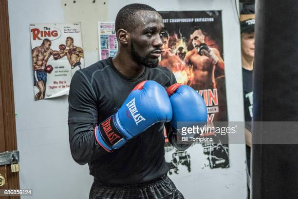 Terence Crawford works out during the Media Workout day prior to a fight against Felix Diaz at the Mendez Boxing Gym May 17 2017 in New York City
