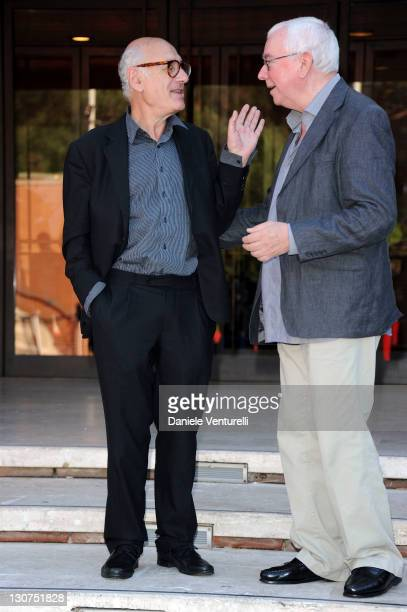 Terence Davies and Michael Nyman attend the 6th International Rome Film Festival at Auditorium Parco Della Musica on October 29 2011 in Rome Italy