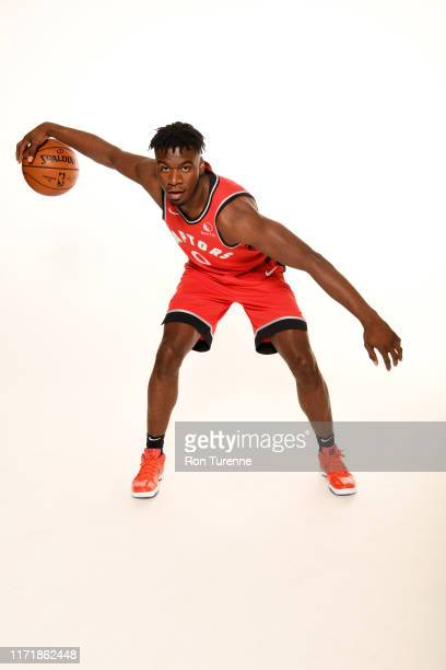 Terence Davis of the Toronto Raptors poses for a portrait during media day on September 28 2019 at Scotiabank Arena in Toronto Ontario Canada NOTE TO...
