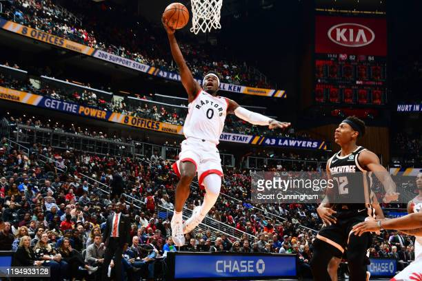 Terence Davis of the Toronto Raptors shoots the ball against the Atlanta Hawks on January 20 2020 at State Farm Arena in Atlanta Georgia NOTE TO USER...