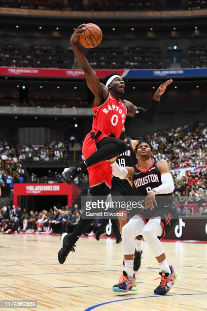 Terence Davis of the Toronto Raptors shoots the ball against the Houston Rockets during the 2019 NBA Japan Game on October 10 2019 at Saitama Super...