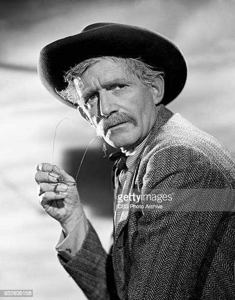 Terence de Marney as Case Thomas the general store owner in the CBS western television program 'Johnny Ringo' Image dated July 24 Hollywood CA