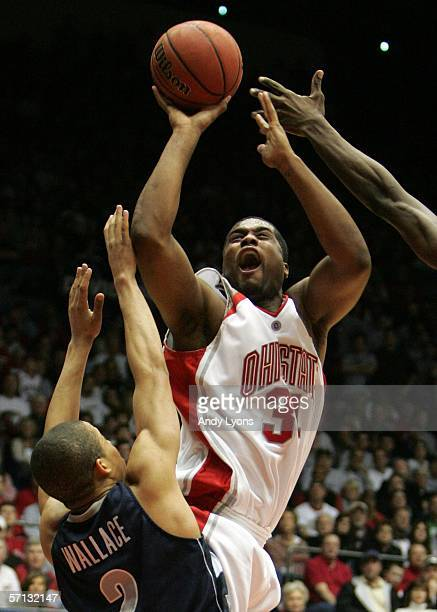 Terence Dials of the Ohio State Buckeyes shoots over Jonathan Wallace of the Georgetown Hoyas during the Second Round of the 2006 NCAA Men's...