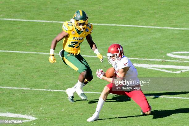 Terence Grady of the Eastern Washington Eagles catches a pass against the North Dakota State Bison during the Division I FCS Football Championship...