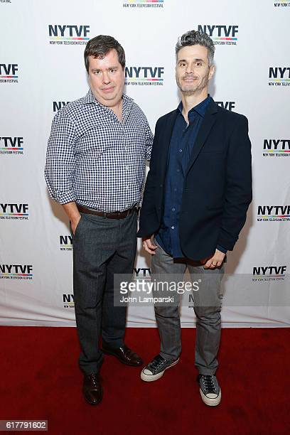 Terence Gray and Evan Shapiro attends Artist Welcome/Industry Keynote with Carter Bays and Craig Thomas during the 12th Annual New York Television...