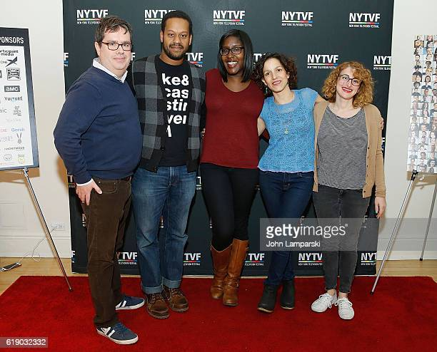 Terence Gray John Thibodeaux Naomi Ekperigin Catie Lazarus and Jo Firestone attend Development Day Panels during the 12th Annual New York Television...