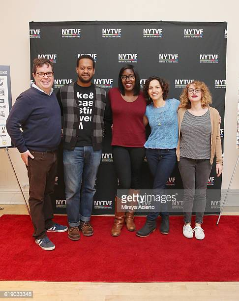 Terence Gray John Thibodeaux Naomi Ekperigin Catie Lazarus and Jo Firestone attend the 12th Annual New York Television Festival at Helen Mills...