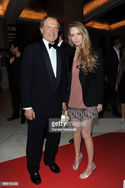 Terence Hill and Yvonne Scio attend the 'David Di Donatello' movie awards at the Auditorium Conciliazione on May 7 2010 in Rome Italy