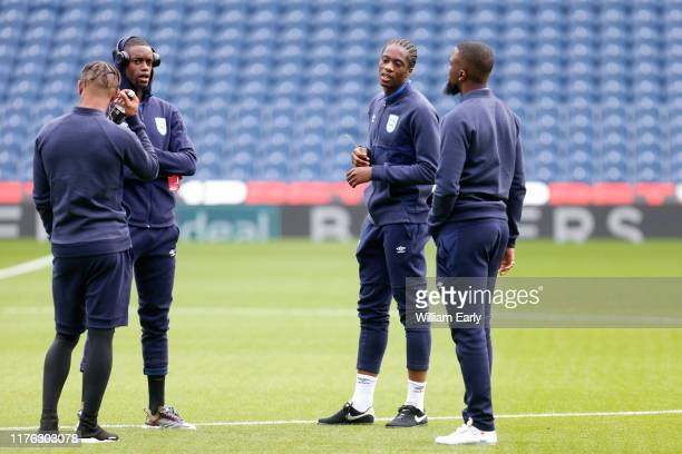 Terence Kongolo, Adama Diakhaby, Juninho Bacuna and Isaac Mbenza of Huddersfield Town before the Sky Bet Championship match between West Bromwich...