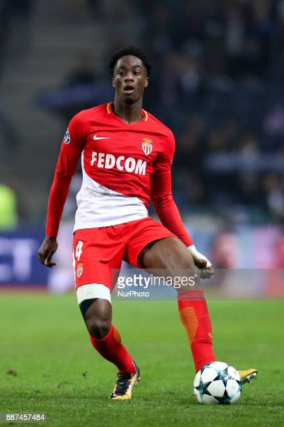 Terence Kongolo defender of AS Monaco FC in action during the UEFA Champions League Group G match between FC Porto and AS Monaco FC at Dragao Stadium...