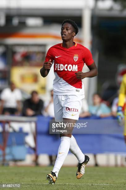 Terence Kongolo of AS Monaco during the friendly match between AS Monaco and Stoke City at Stade d'Octodure on July 15 2017 in Martingny Switzerland