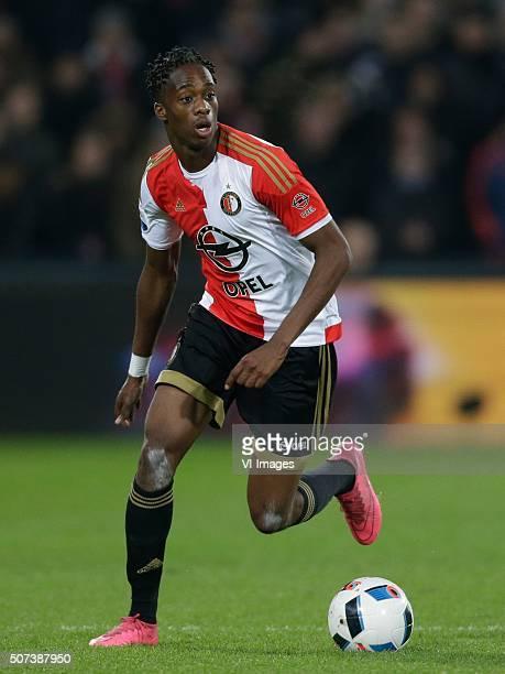 Terence Kongolo of Feyenoord during the Dutch Eredivisie match between Feyenoord Rotterdam and Feyenoord v SC Heerenveen at the Kuip on January 28...