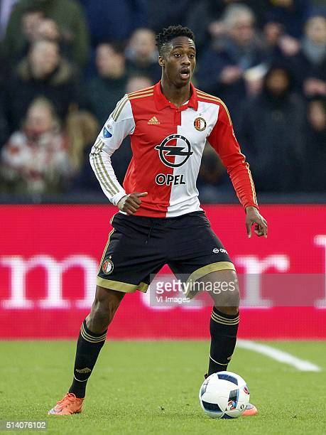 Terence Kongolo of Feyenoord during the Dutch Eredivisie match between Feyenoord Rotterdam and SC Cambuur Leeuwarden at the Kuip on March 06 2016 in...