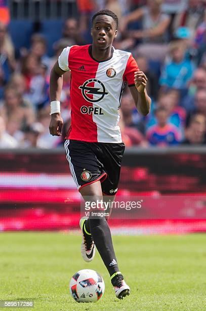 Terence Kongolo of Feyenoord during the Dutch Eredivisie match between Feyenoord and FC Twente at stadium Feyenoord De Kuip on august 14 2016 in...