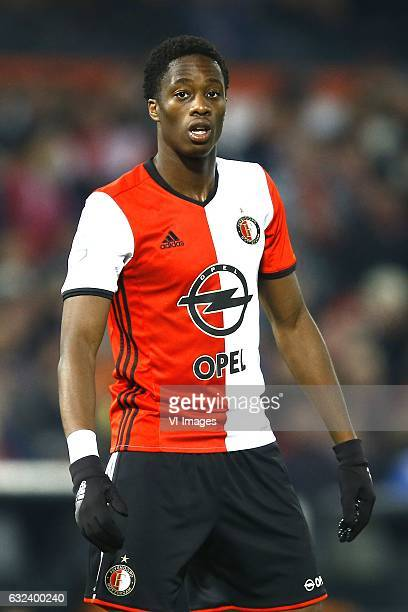Terence Kongolo of Feyenoord Rotterdamduring the Dutch Eredivisie match between Feyenoord Rotterdam and Willem II at the Kuip on January 21 2017 in...