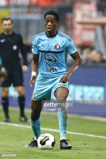 Terence Kongolo of Feyenoord Rotterdamduring the Dutch Eredivisie match between FC Twente and Feyenoord Rotterdam at the Grolsch Veste on February 05...