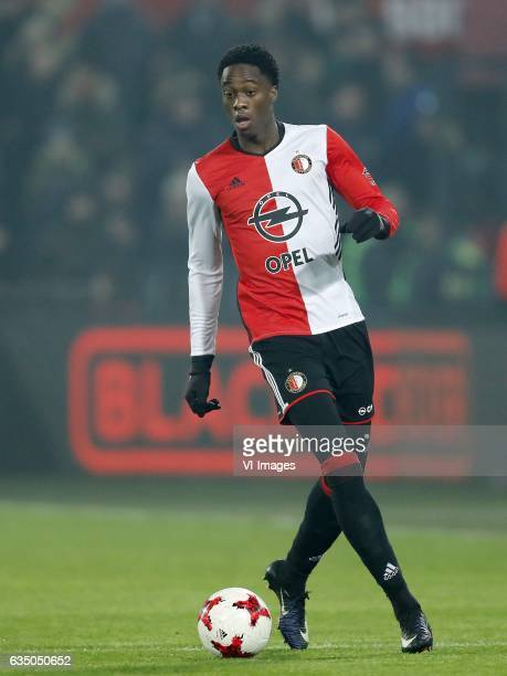 Terence Kongolo of Feyenoordduring the Dutch Eredivisie match between Feyenoord Rotterdam and FC Groningen at the Kuip on February 11 2017 in...