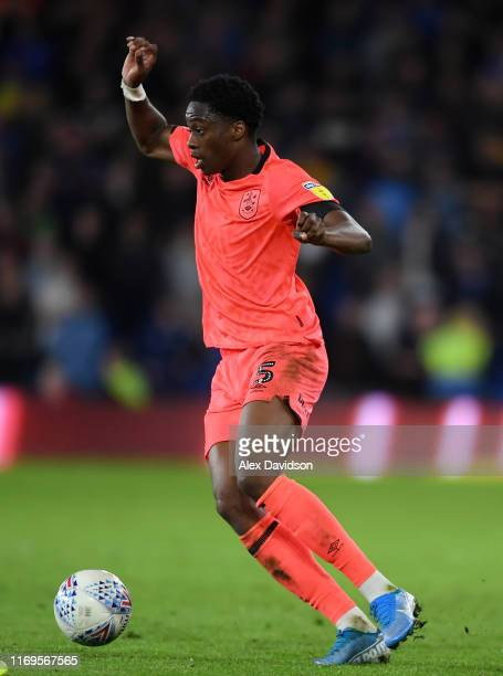 Terence Kongolo of Huddersfield during the Sky Bet Championship match between Cardiff City and Swansea City at Cardiff City Stadium on August 21,...
