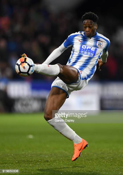 Terence Kongolo of Huddersfield during the The Emirates FA Cup Fifth Round match between Huddersfield Town and Manchester United on February 17 2018...