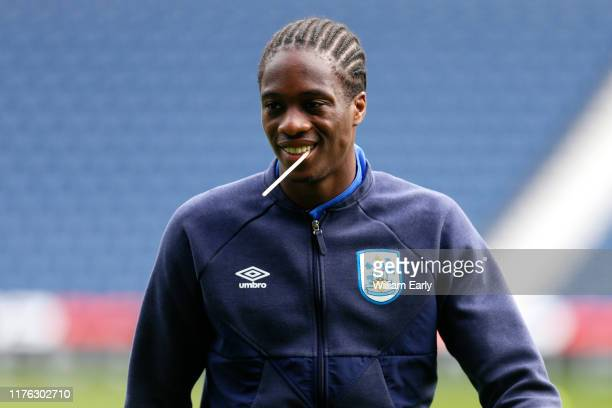 Terence Kongolo of Huddersfield Town before the Sky Bet Championship match between West Bromwich Albion and Huddersfield Town at The Hawthorns on...