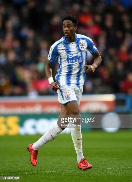 Terence Kongolo of Huddersfield Town during The Emirates FA Cup Fourth Round match between Huddersfield Town and Birmingham City at John Smith's...
