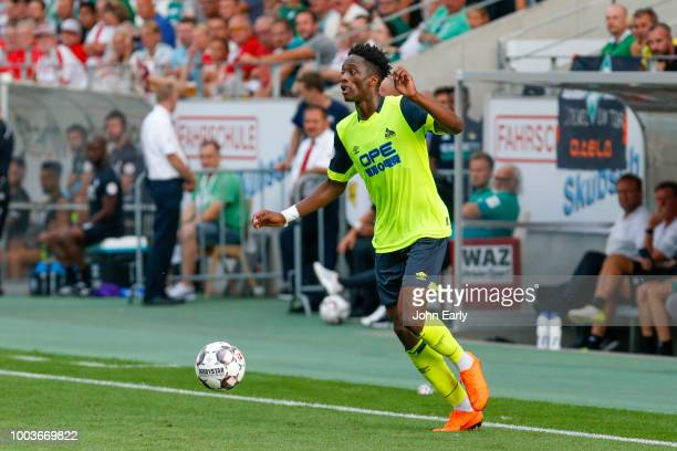 Terence Kongolo of Huddersfield Town during the Interwetten Cup match between Huddersfield Town and Werder Bremen at Stadion Essen on July 21 2018 in...
